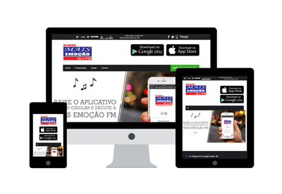 Projeto Mais Emoção FM - DAS Freelancer Desenvolvedor Web